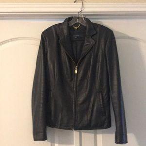 NWOT. Cole Haan Tan   leather jacket. Medium